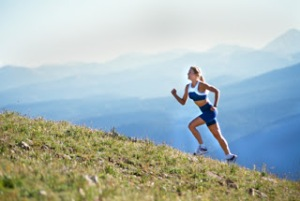 Woman-running-uphill